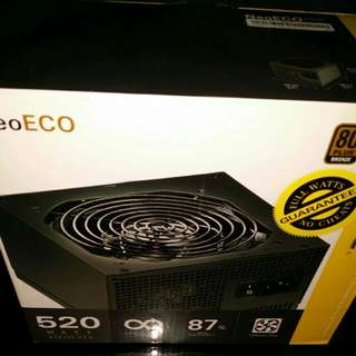 Antec 520 w. Certified bronze 80 plus (BNIB)