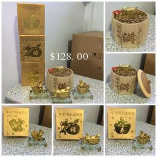 Set Of 4 Golden Mouse Home Decor