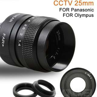 25mm f1.4 Fujian lens for c mount and micro four thirds
