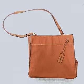 Mango Faux LeatherBrown Bag