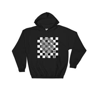 CHECKERED FIRE HOODIE
