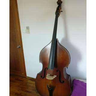Synwin Student Model Double Bass Outfit (SVCDB1001) for 900SGD (original price 1500SGD)