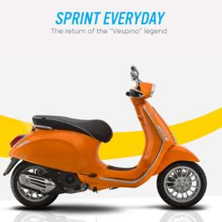 Vespa sprint 150 iget vincode 2018 (orange)