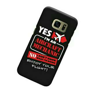 Aircraft Mechanic Samsung Galaxy S7 Custom Hard Case