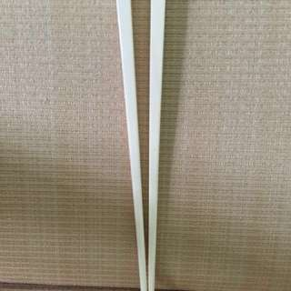 AUTHENTIC PLAIN IVORY CHOPSTICKS. ( price not accepted will get no reply )