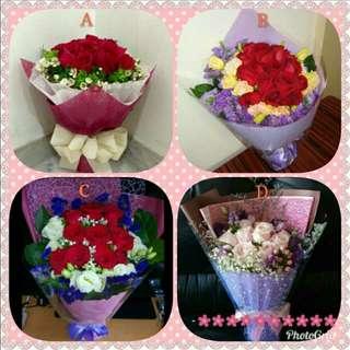 😘💐情人節  鮮花花束 💏🎉$780up Valentine's Day Fresh Flower Bouquet