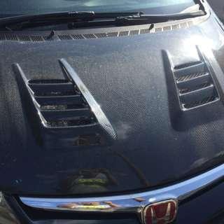 hood fd js carbon fiber