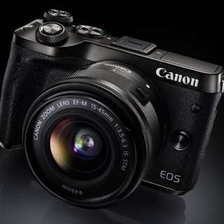 Canon EOS M6 with EF-M 15-45mm f/3.5-5.6 IS STM Kit Lens