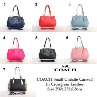 Coach Small Christie Carryall in Crossgrain Leather