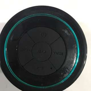 Waterproof Wireless Bluetooth Sticky Shower Speaker Blue Black