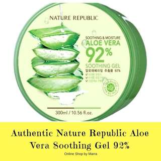 Authentic Nature Republic Aloe Vera Soothing Gel 92%
