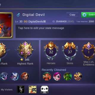 Mobile Legends Account For Android User