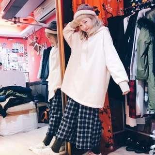 🚚 🤘轉賣買賺🤘sala韓國中高領兩件式毛料帽t(橘)