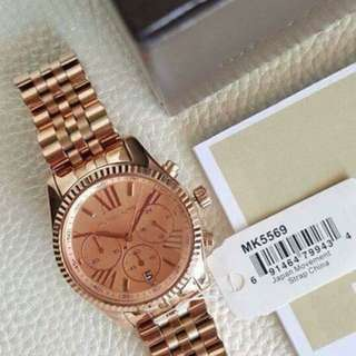 Michael Kors - Lexington Rose Gold-Tone Watch