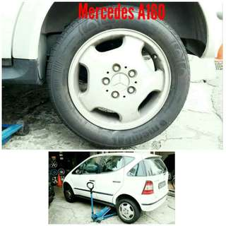 Tyre 185/60 R15 Membat on Mercedes A160 🐓 Super Offer 🙋♂️