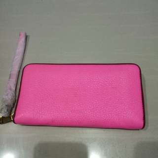 Fossil Emma lg zip neon pink