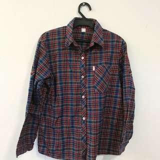 🚚 紋格襯衫(藍)#大掃除五折
