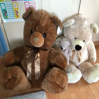 TWO Big Beautiful Teddy Bears!!  So cute & cuddly. Perfect gift