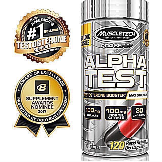 #1 Testosterone Support Muscletech Alphatest Supplement Alpha Test, Sports,  Sports & Games Equipment on Carousell
