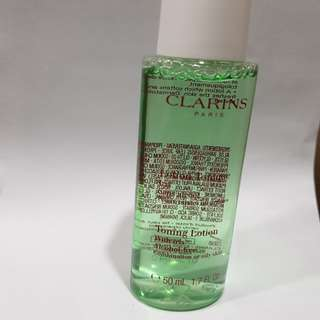 Clarins travel size toner with Iris alcohol free