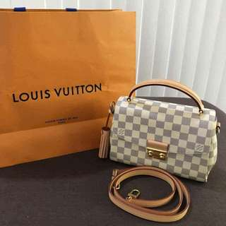 Brand New Louis Vuitton Croisette in Damier Azure