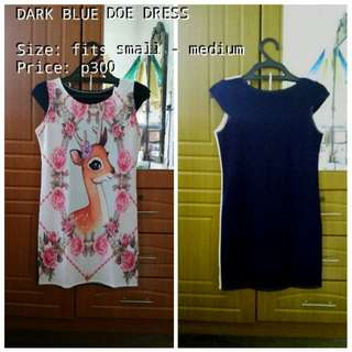DARK BLUE DOE DRESS