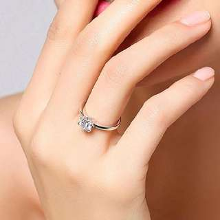 Engagement ring 92.5 silver size 6 and 9