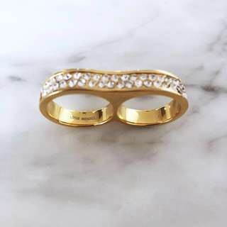 Lotus Mendes double duo gold rings