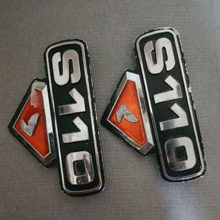 Honda S110 side cover emblem