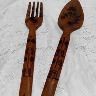 Wooden spoon & fork
