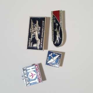 Vintage Soviet Russian aviation badges