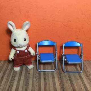 Miniature Folding Chairs Set