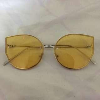 Yellow transparent sunglasses