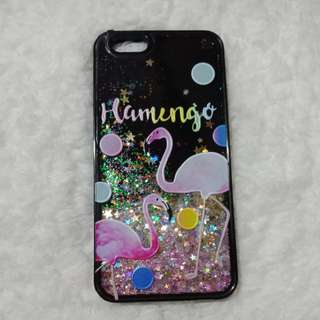 Flamingo glittery hard case for iphone 6