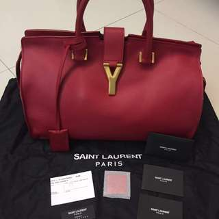 Yves Saint Laurent YSL Red Cabas Chyc Large