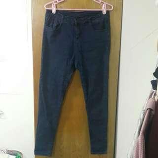 🚚 深藍色牛仔褲XL
