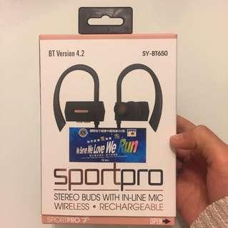 Sport pro SY-BT650 全新 耳機