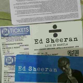 Ed Sheeran Manila Concert Tickets