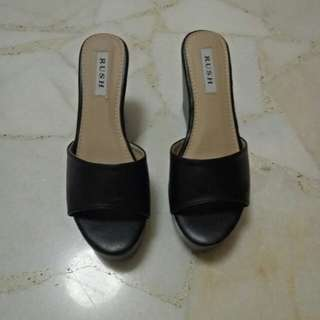 Black Platform Heels Shoes