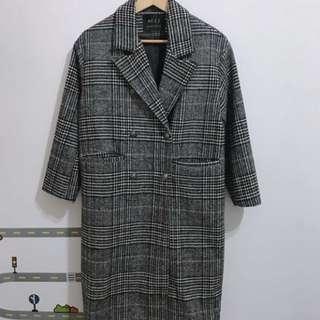 韓國千鳥格紋大衣new
