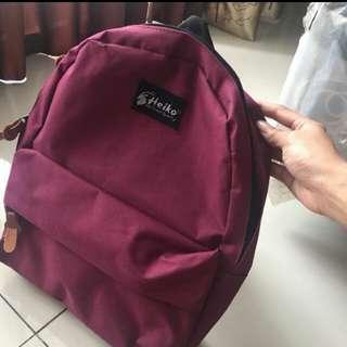 Backpack / Ransel Heiko Maroon