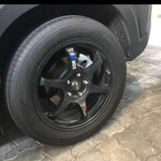 SSR Type C Replica with Yokohama Bluearth AE50 215/55/17 tyres