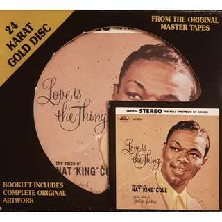 DCC 24K Gold Nat King Cole Love is the Thing - Very Rare OOP