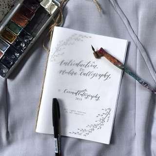 Modern calligraphy lettering basics booklet