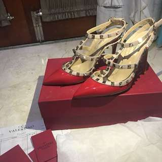 Valentino Red Studs size 38 Used only once!