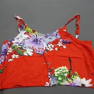 Flowery Cropped Top