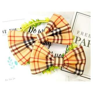 Burbery Plaid Checker  Handmade , Dog Cat Bowties Bow tie , Clothing , Accessories , Pet Collars , Bandana,