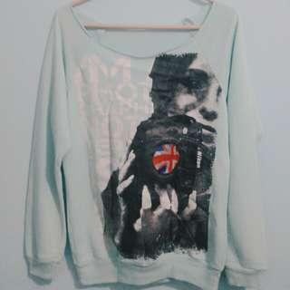 Sweater baby blue wanita
