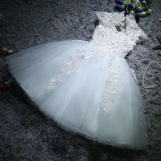 Korea style baby girl wedding dress