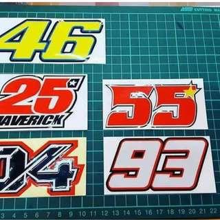 Sticker Number Motor & Kereta